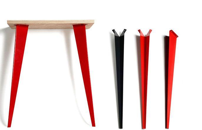 Fabriquer La Table De Ses Reves Design Chic A Petits Prix Pieds De Table Pied Table Acier Pied Meuble