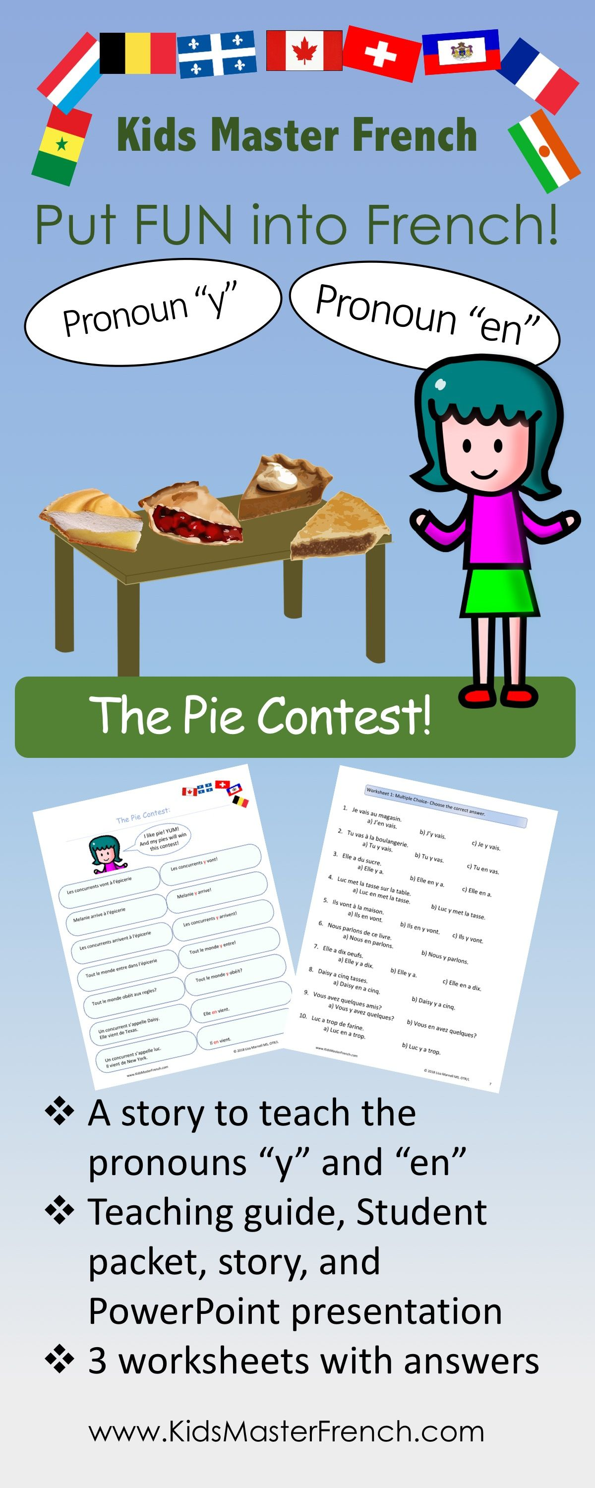 French Grammar Pronouns Y And En The Pie Contest