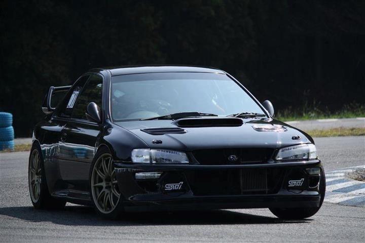 Modified Black 99 Impreza STI