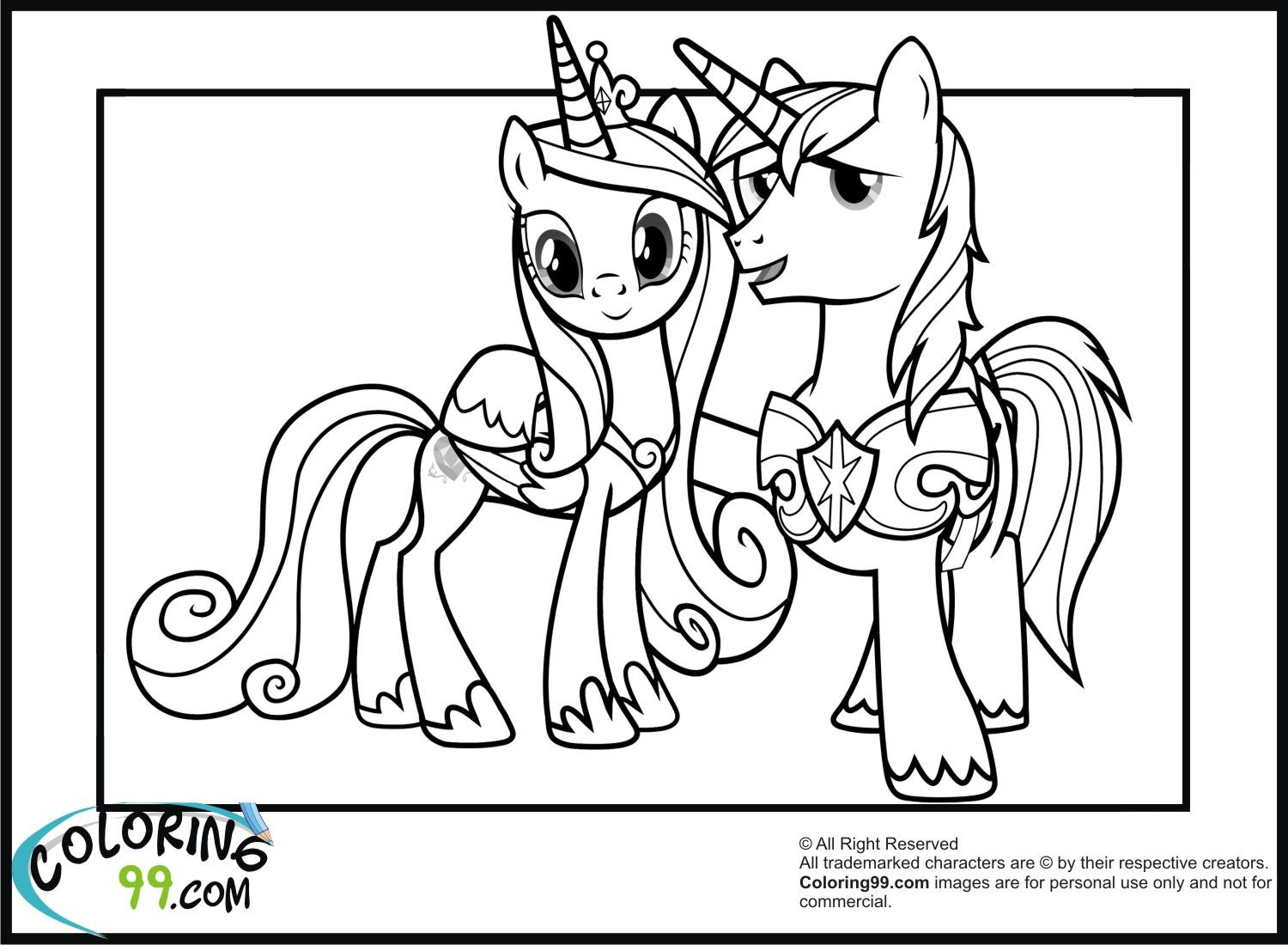 Shining Armor Coloring Pages My Little Pony Coloring Horse Coloring Pages My Little Pony Drawing