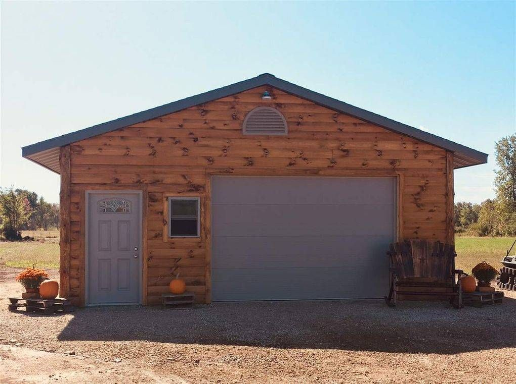 Horse Property For Sale In Waushara County Wisconsin 768 Sq Ft Fully Insulated Garage Workshop 200amp Service Garage 12x In 2020 Montana Homes Property Log Siding