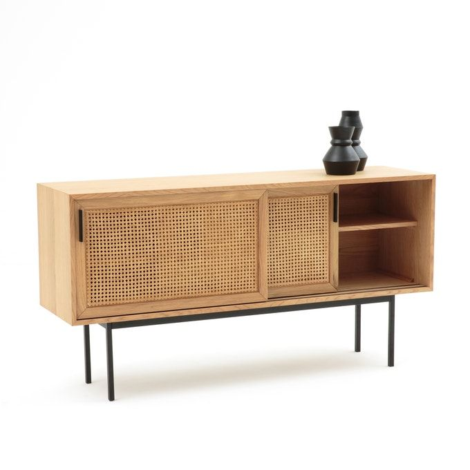 Sideboard Waska Aus Eiche Und Rattan Buffet Enfilade Meuble Maison Mobilier De Salon