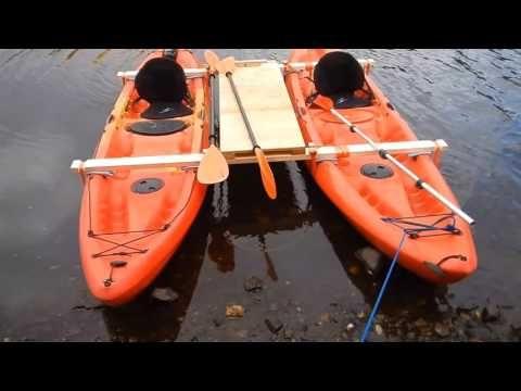 Ocean Kaycat, catamaran project - YouTube   Kayaks   Ocean kayak
