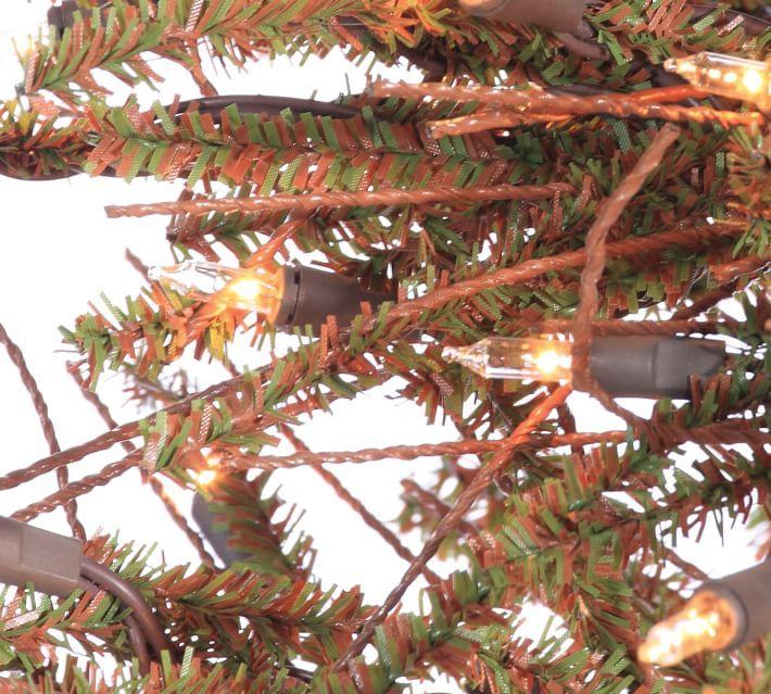 6ft Pre Lit Brown Twig Artificial Christmas Tree Twig