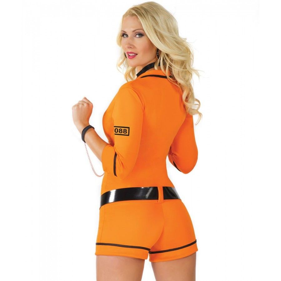 Orange Prison Jumpsuit Halloween Costume - The Halloween  sc 1 st  Pinterest & Orange Prison Jumpsuit Halloween Costume - The Halloween   uniforms ...