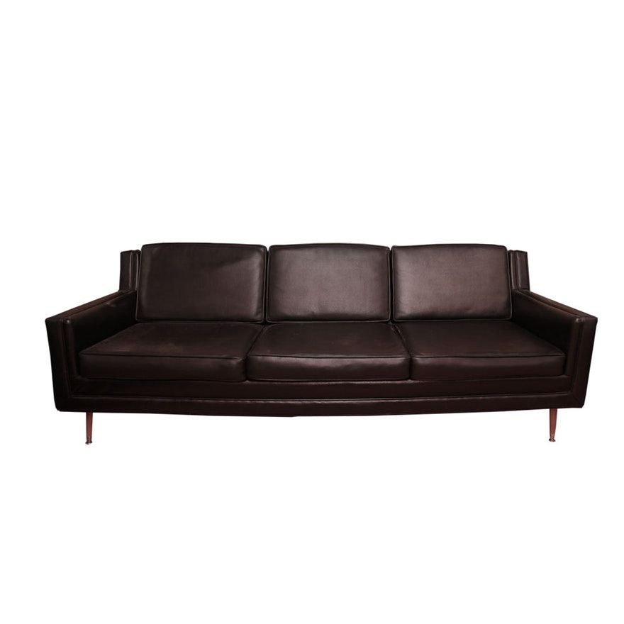 Miraculous Mid Century Modern Faux Leather Sofa By Hampshire House Cjindustries Chair Design For Home Cjindustriesco