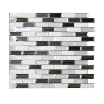Smart Tiles 10.20 in. x 9.10 in. Mosaic Adhesive Decorative Wall Tile  Backsplash Murano - Smart Tiles 10.20 In. X 9.10 In. Mosaic Adhesive Decorative Wall