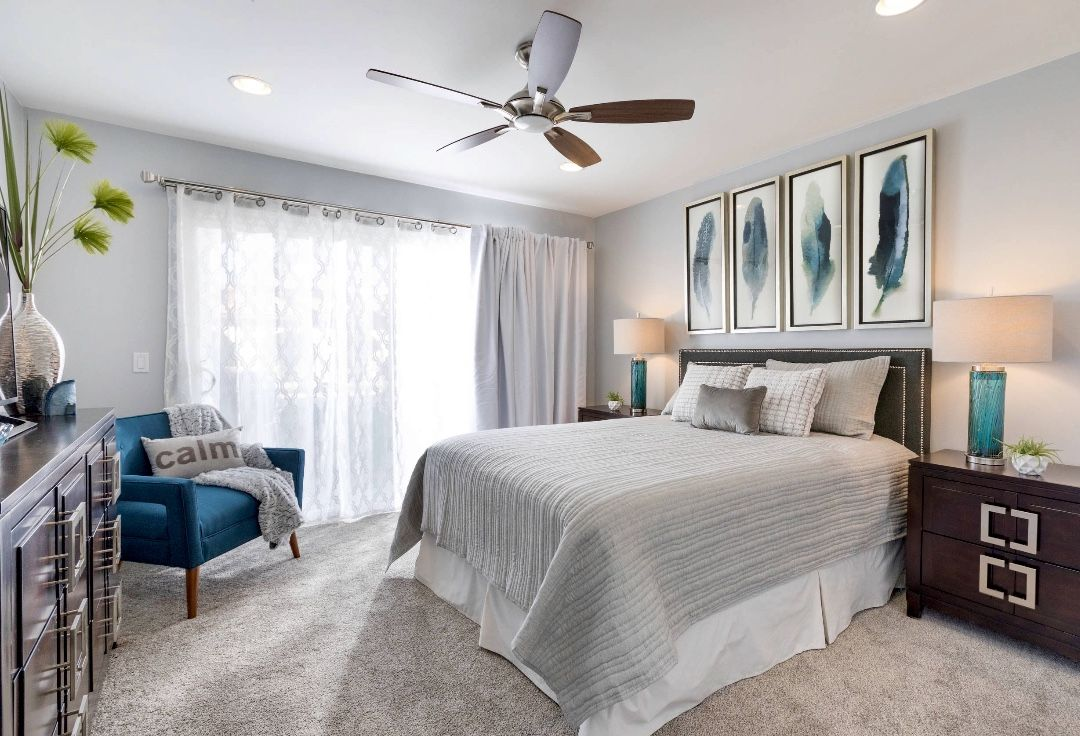 beautiful transitional style teal bedroom decor  teal