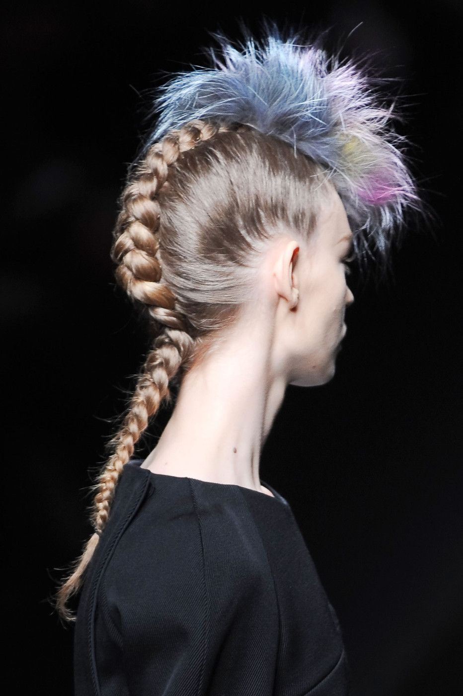 Multicolored mohawks at fendi fall hair styling pinterest