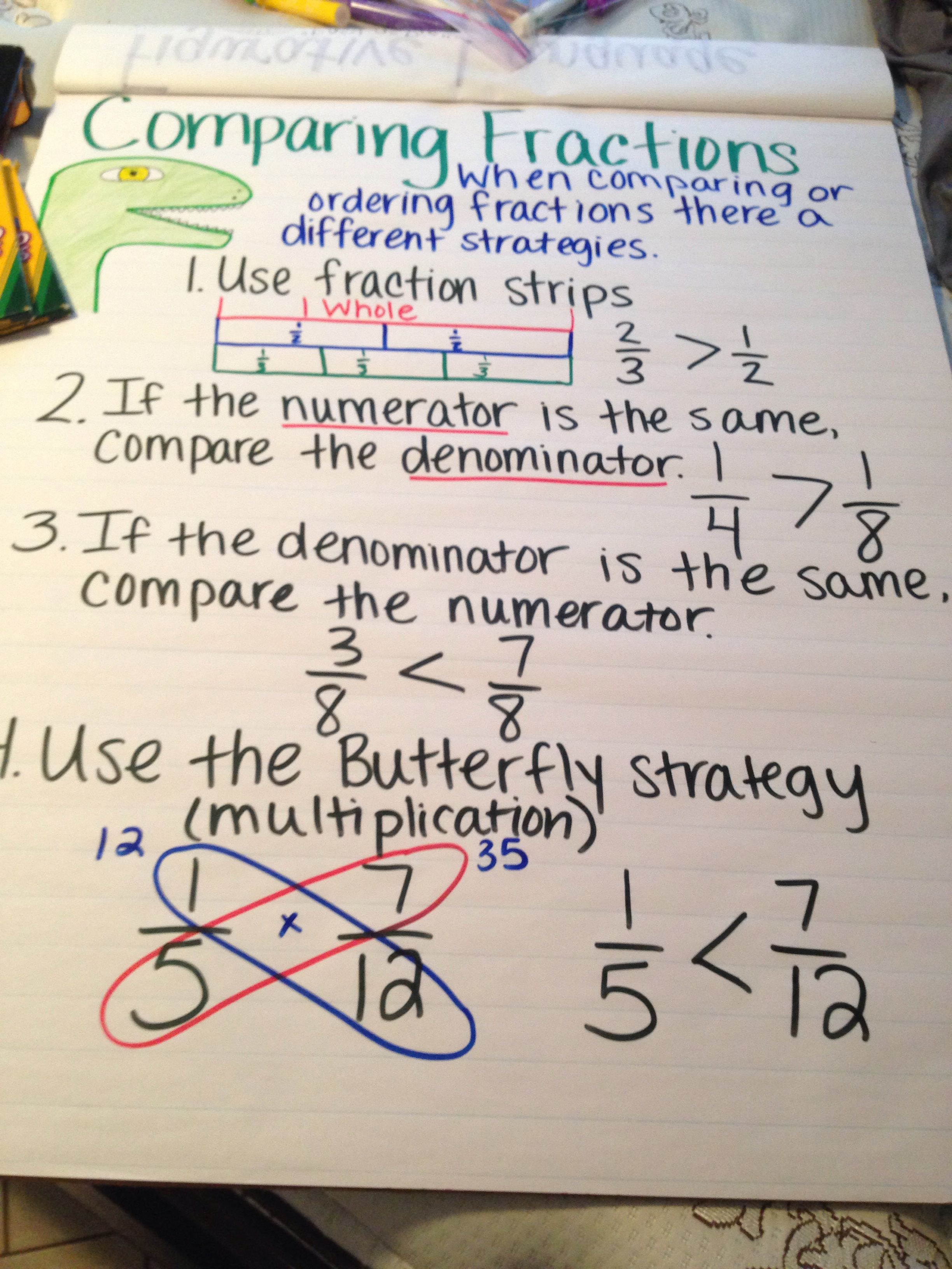 comparing fractions | math | pinterest | comparing fractions, maths
