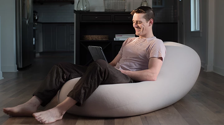 Feel The Future In 2020 Home Yoga Room Bean Bag Chair Studio Apartment Design