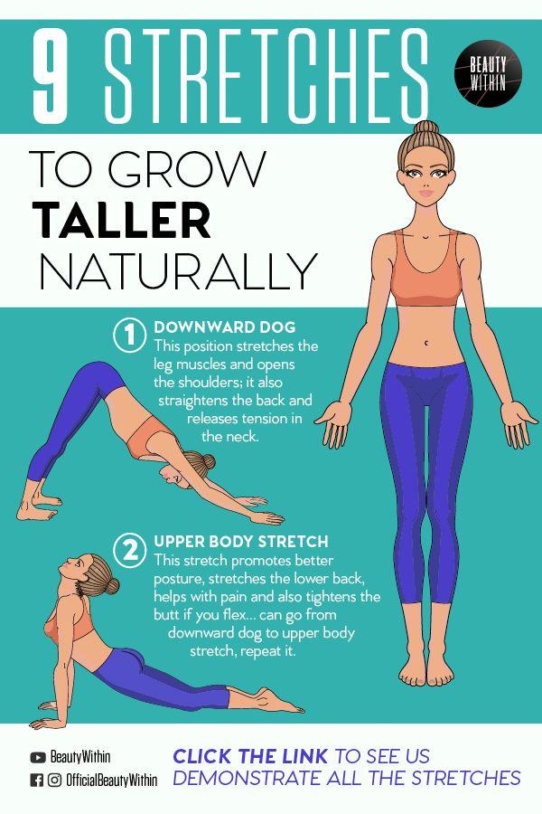 7 Stretches To Grow Taller Improve Posture Bonus Tips How To Grow Taller Naturally We P How To Grow Taller Stretches To Grow Taller Grow Taller Exercises