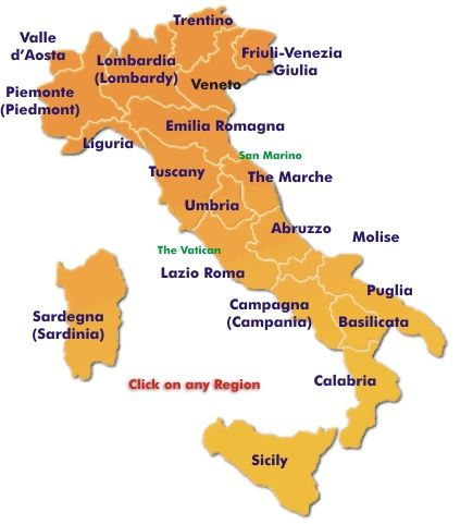 ItalianVisits Maps of Italy Political maps driving maps