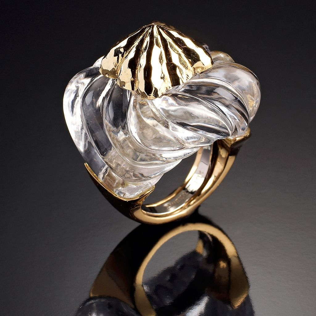 Gold and quartz jalino ring | DAVID WEBB Jewels