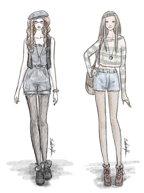 mode ontwerpen tekenen