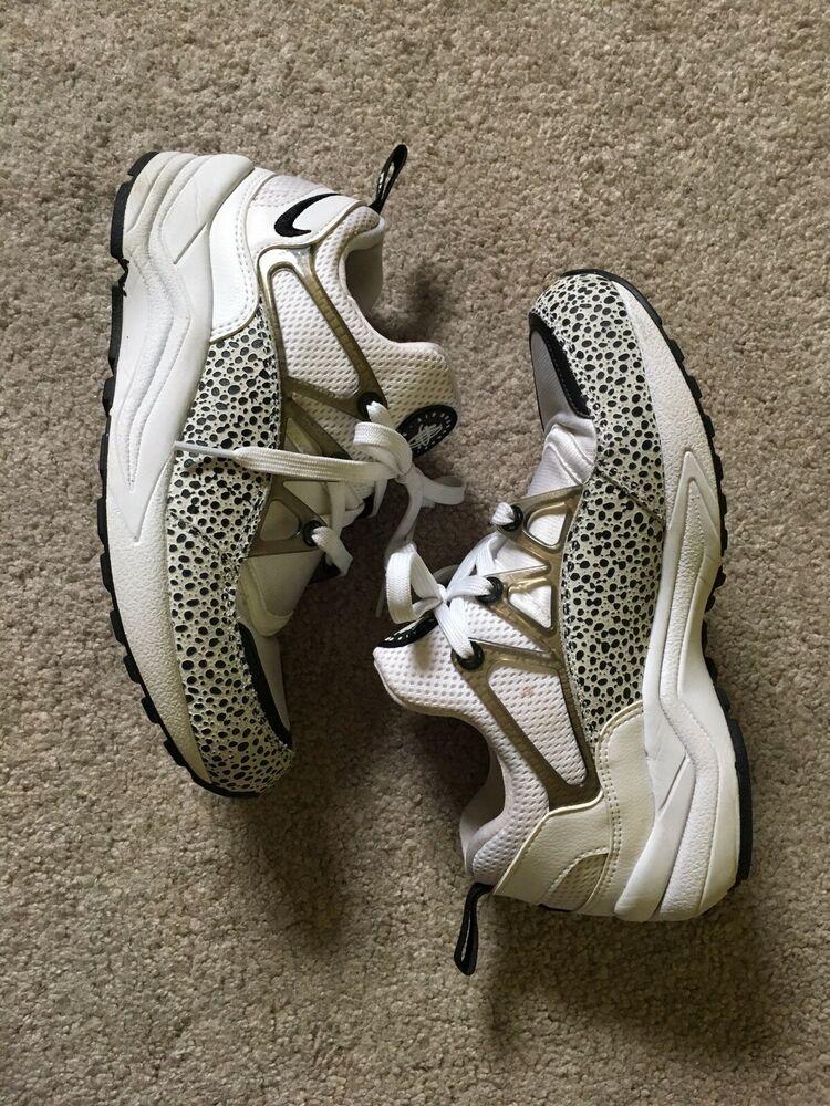 51e51abee Nike Air Huarache Light Premium PRM Safari White and Black 819011-100 US  6.5 -