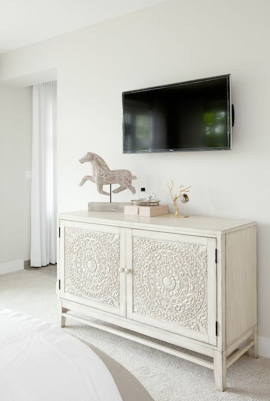 "Perfect ""media console"" for the guest bedroom! 