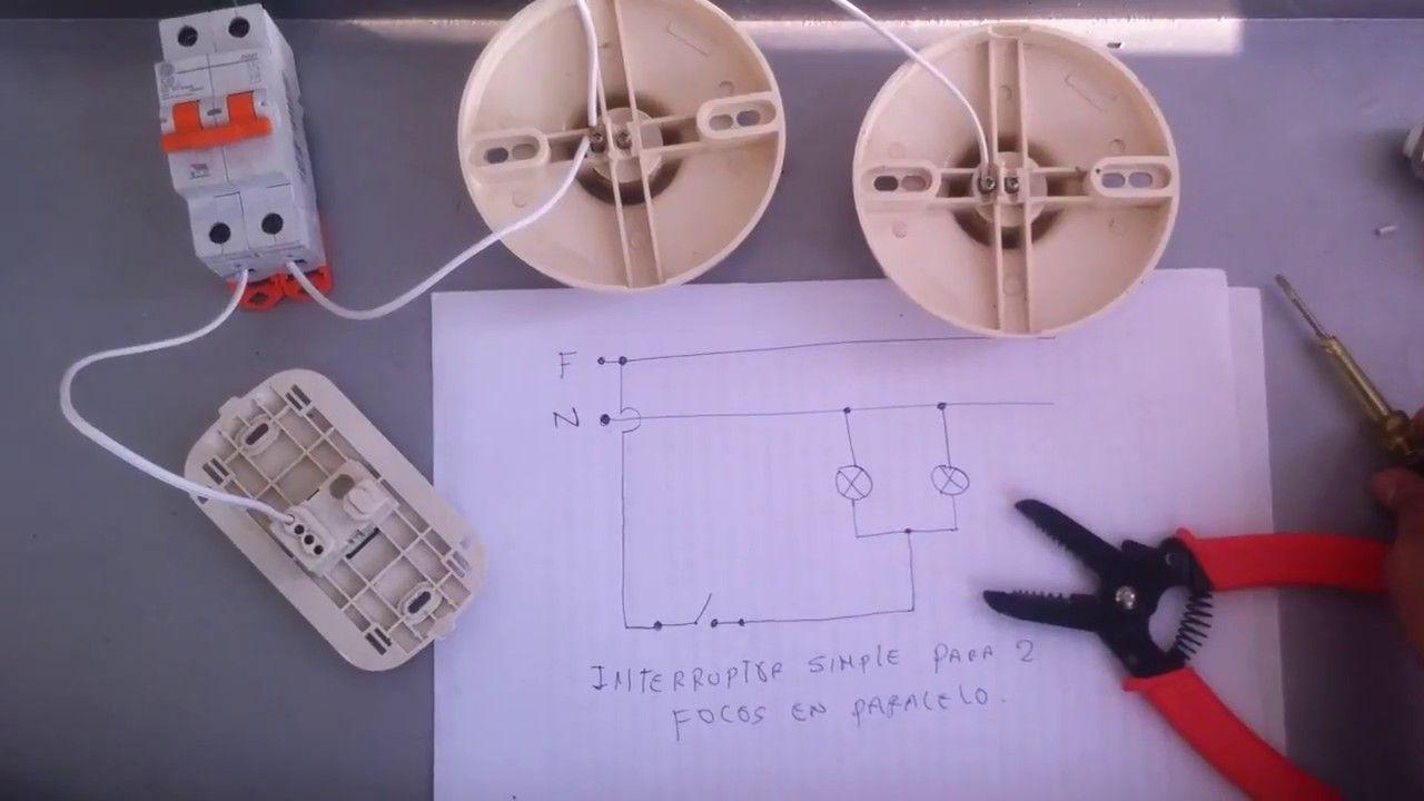 Circuito Electrico Simple Con Interruptor : CÓmo conectar lÁmparas en paralelo controlados por un interruptor