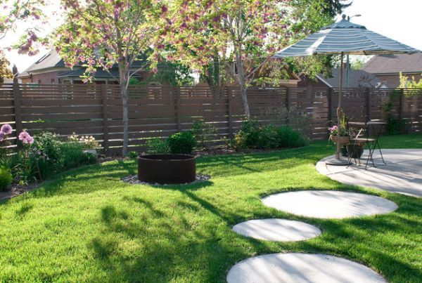 Stepping Stone Paths And Bridges For Backyard Traditional Landscape Round Stepping Stones Easy Landscaping