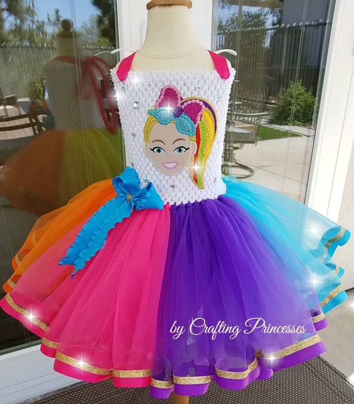 adc454c66dad Jojo Siwa Tutu Dress by Crafting Princesses| Jojo Tutu | Jojo Siwa Bows | Jojo  Siwa Birthday party