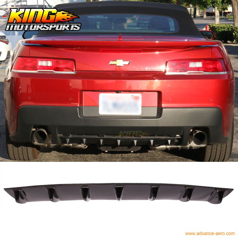 33 X6 Ik Style Universal Rear Bumper Lip Diffuser 7 Fin Gloss Black Abs Gloss Black Replacement Parts License Plate