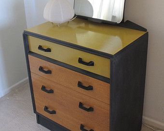 sale upcycled g plan dressing table chest of drawers bureau writing desk with mirror