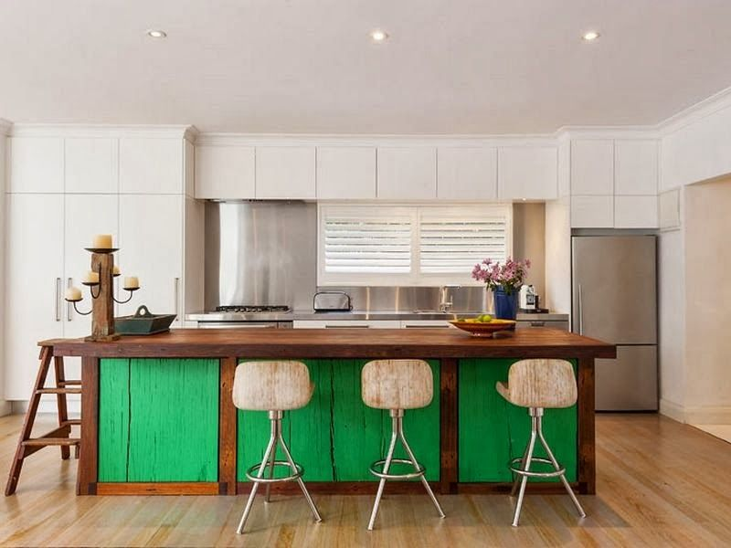 Palm Beach House Kitchen Concepts Green Kitchen Island Dining Room Design