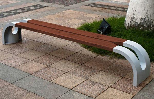 Moderne Gartenbank moderne gartenbank selber bauen holz und eisen braun gartenbank