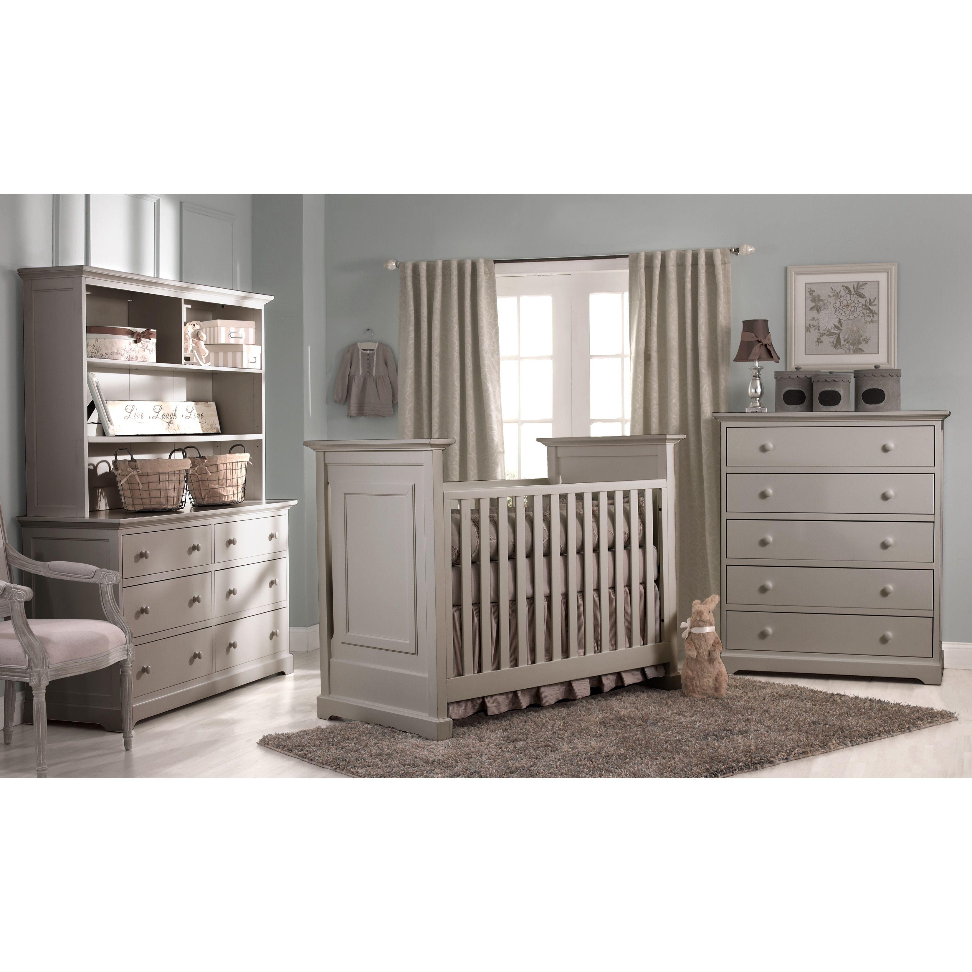 Heritage Centennial Chesapeake Clic 3 In 1 Crib Light Grey