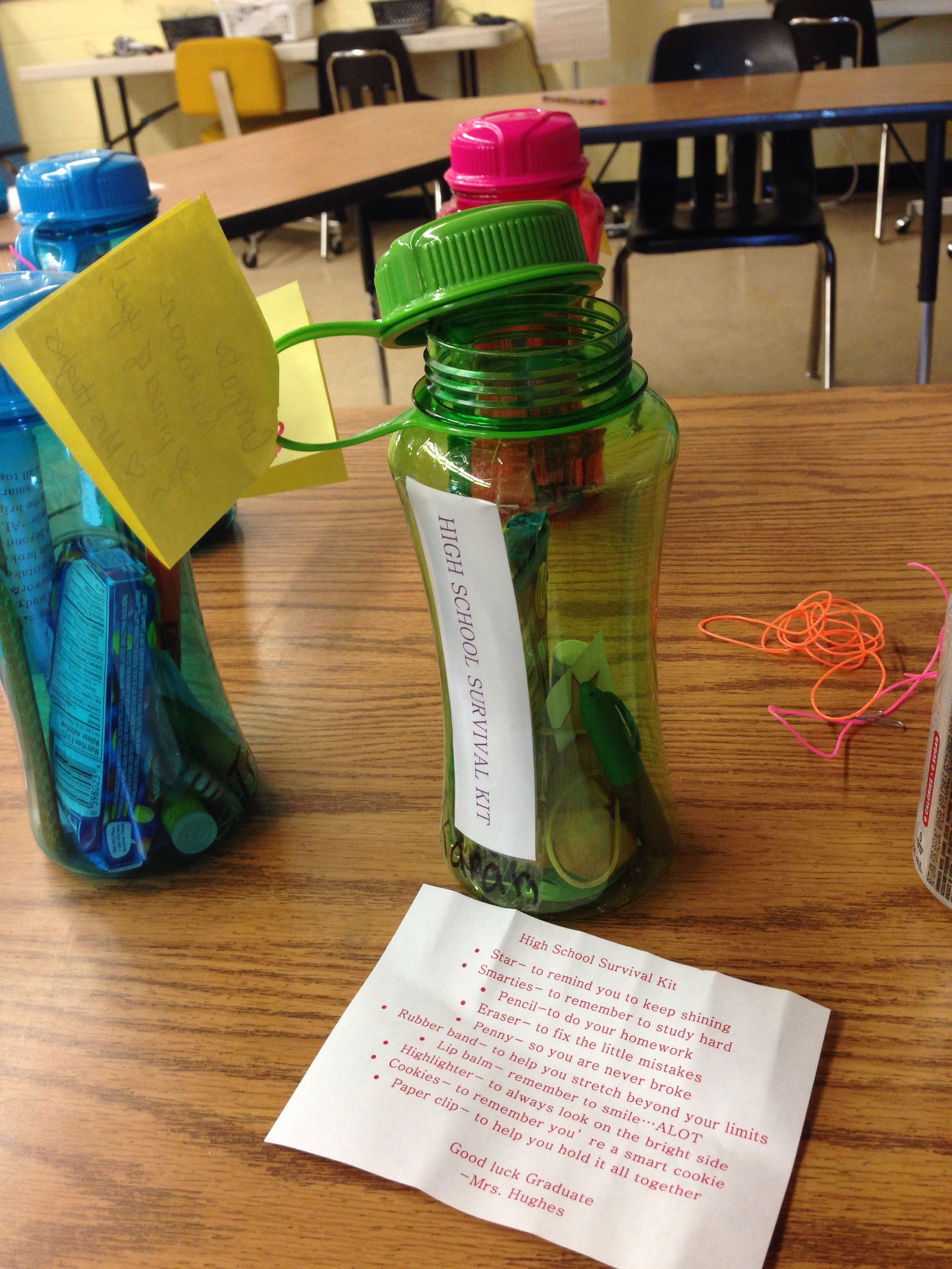 High school survival kit crafts pinterest school - Graduation gift for interior design student ...