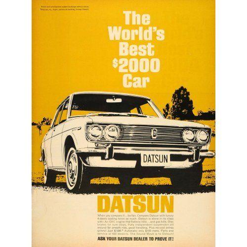 Datsun Automobile Vintage Car Ad Classics And Vintage Ads
