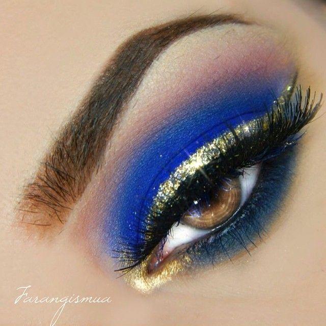 Royal Blue And Gold Shadow Obsessed ♡ In 2019