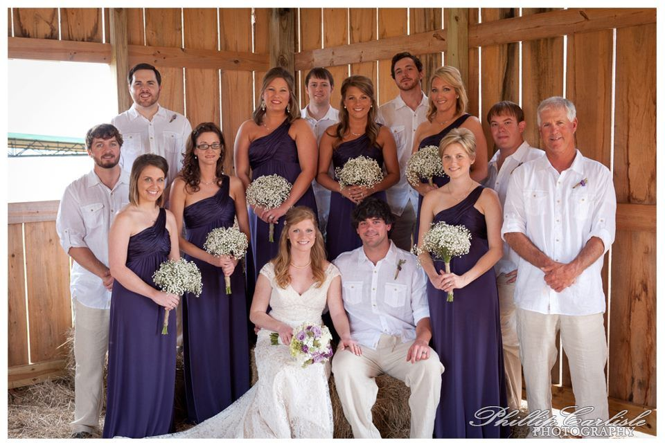 wedding at lazy acres in chunky ms | baby's breath bouquets | barn wedding in meridian ms | barn venues in meridian ms | purple bridesmaids dresses | country wedding