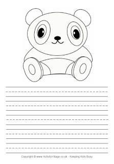 Panda story paper printable | Panda Power | Paper, Animal facts, Animals