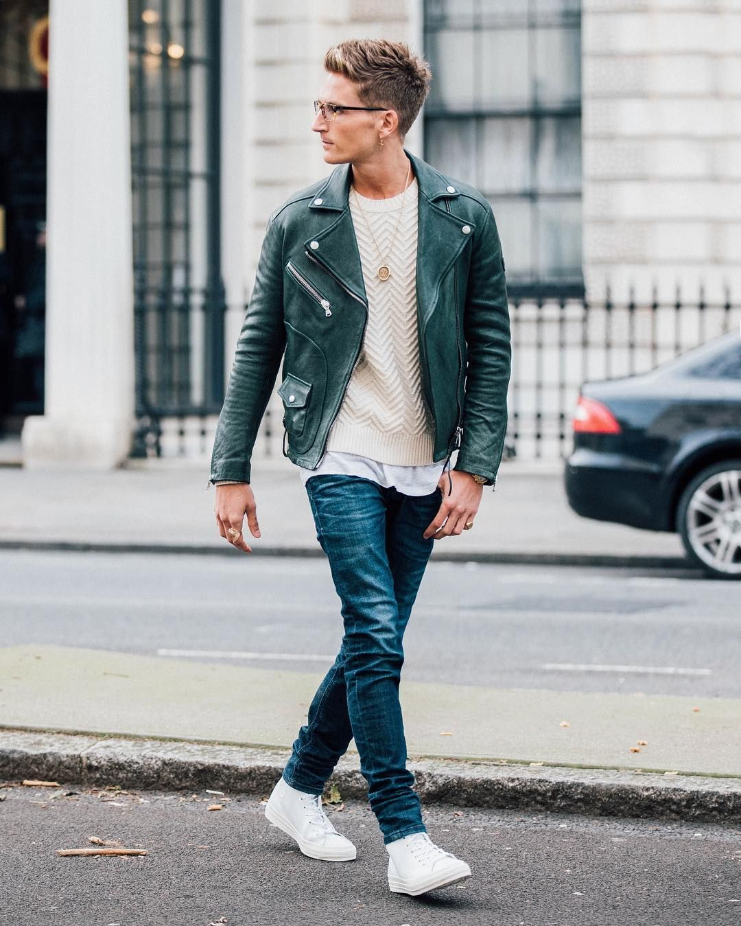 Street style from Mens Fashion Week. Wearing converse ...