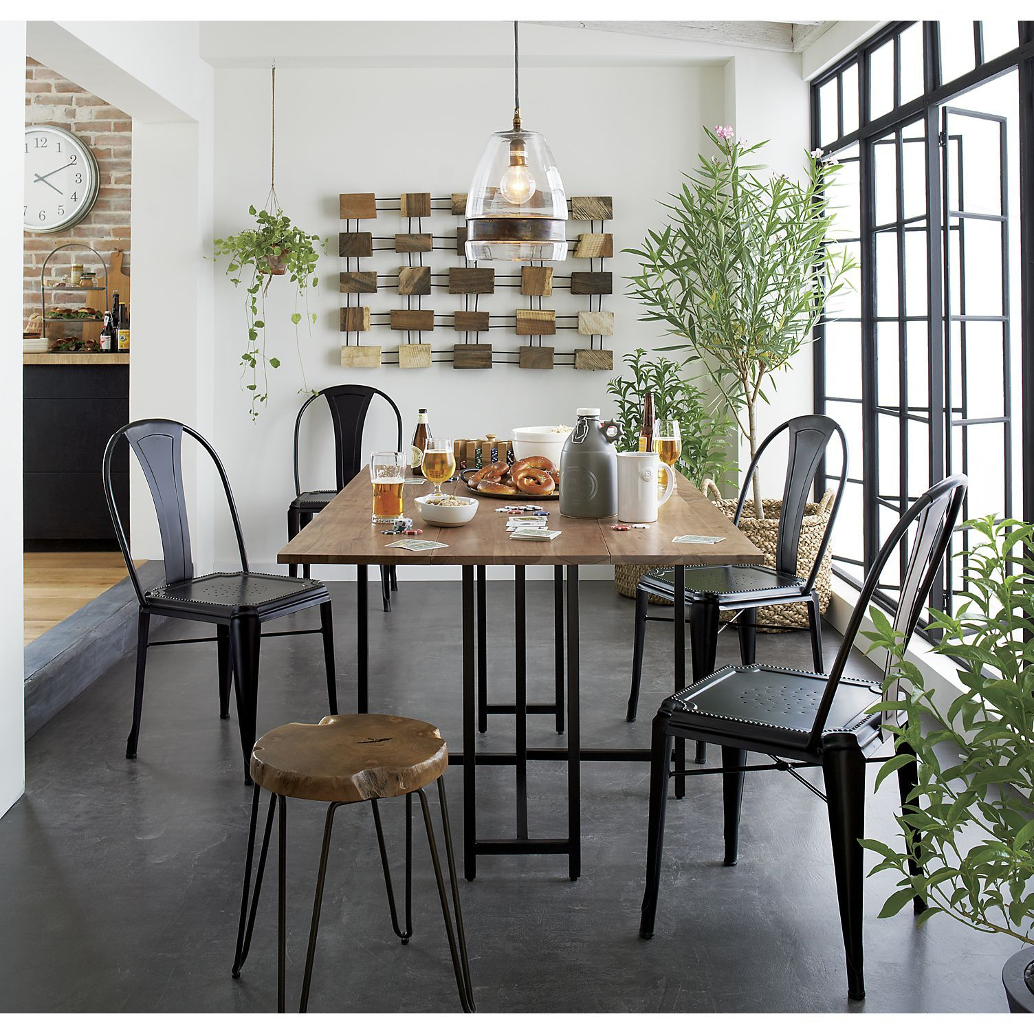 Crate and barrel dining room table - Gather Around A Kitchen Or Dining Table From Crate And Barrel Browse A Variety Of