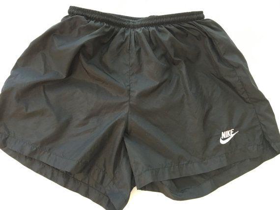 1980's Vintage NiKe shorts GyM RuNNiNg SwOOsH slinky boxing tRunks WoRk-OuT BeAcH FiTNeSS AeRoBiCs NiKe LoGo MaRaThoN ShoRts USA XL fQMEMD