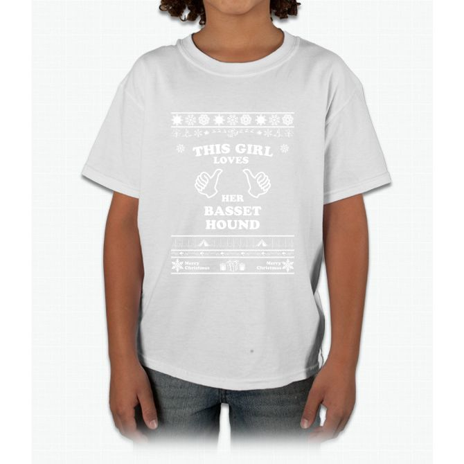 Merry Christmas Basset Hound Young T-Shirt
