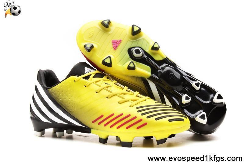 the best attitude 6c5b3 b73ff Best Gift Adidas Predator LZ Yellow purple black Football Shoes Shop