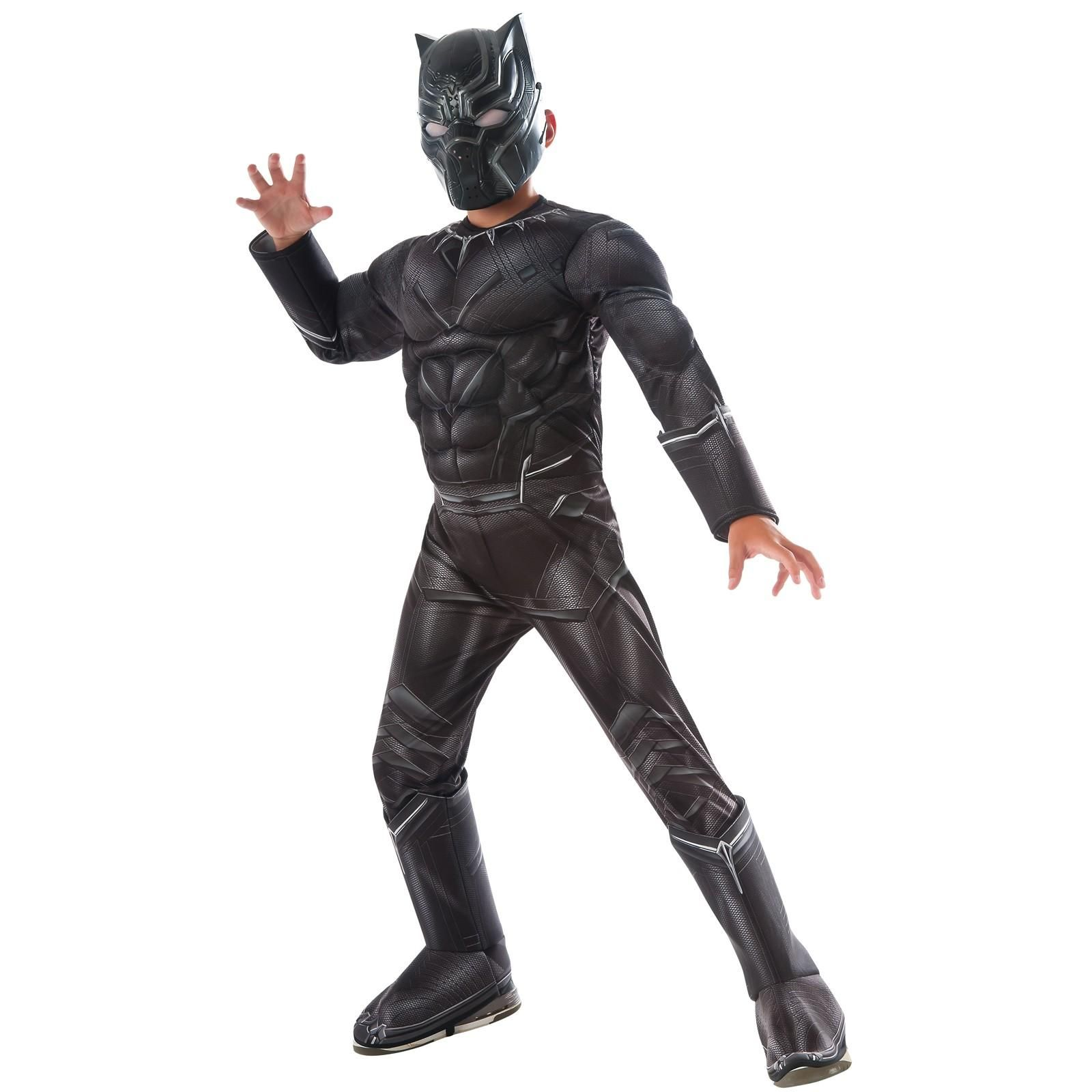 Marvel's Captain America: Civil War Black Panther Deluxe Muscle Chest  Costume For Kids