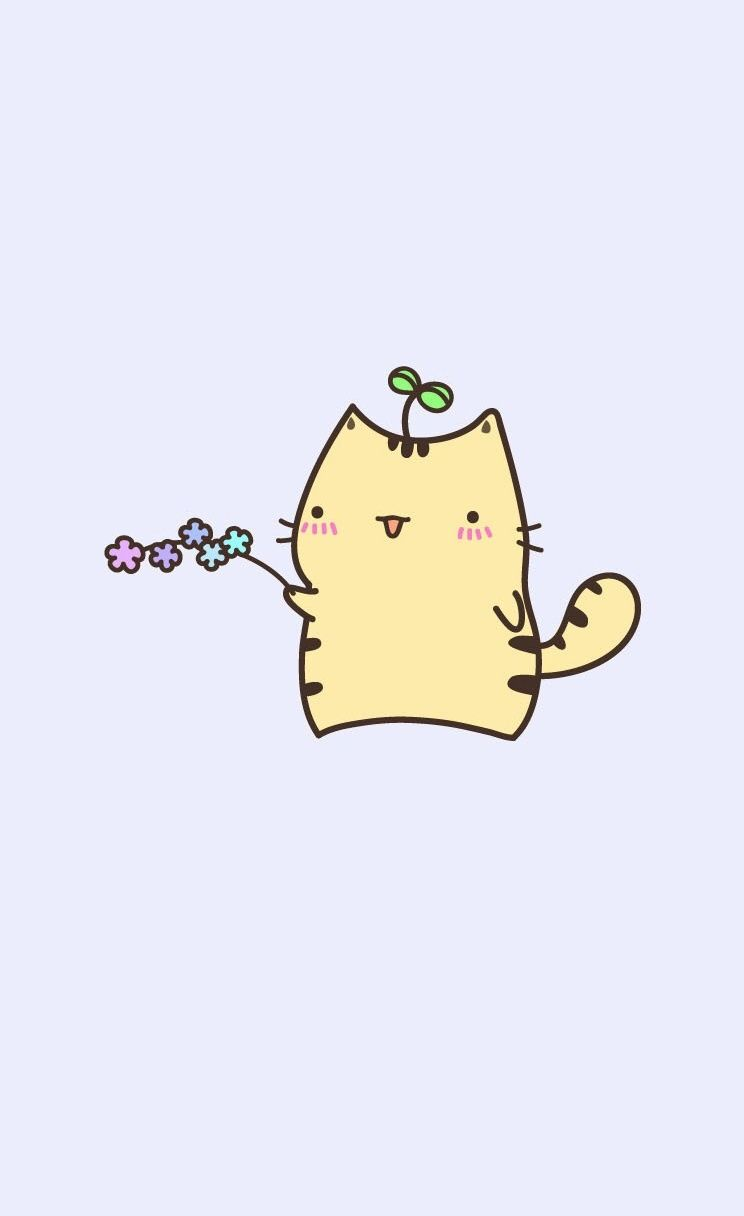 Cute Pusheen Kitty Iphone Wallpapers Mobile9 Kawaii Wallpaper Cute Wallpapers Pusheen Cat