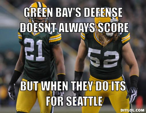 Green Bay Packers Memes Green Bay S Defense Doesnt Always Score