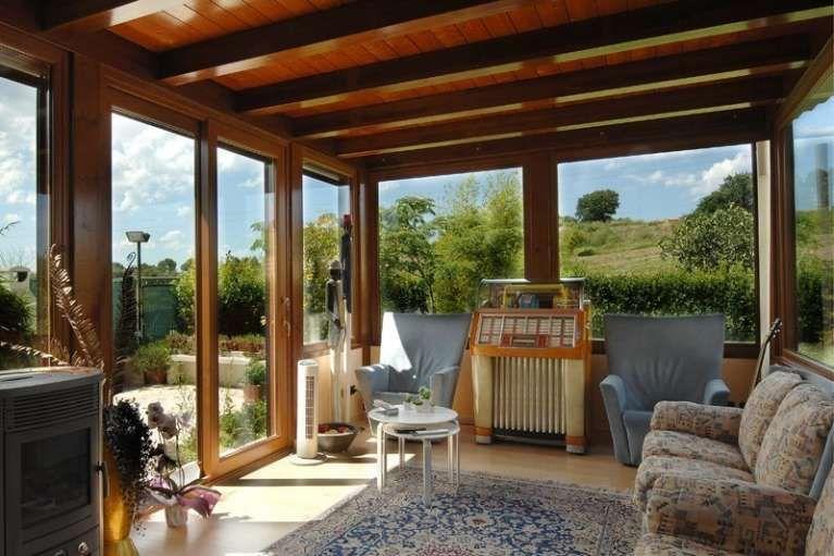 Verande in legno Veranda, Arredamento veranda cortile e