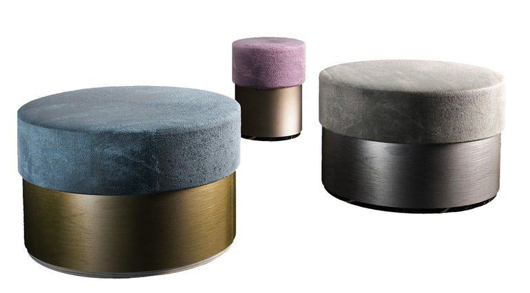 GRAMERCY   POUFS Carlyle Collective   Modern stools ...