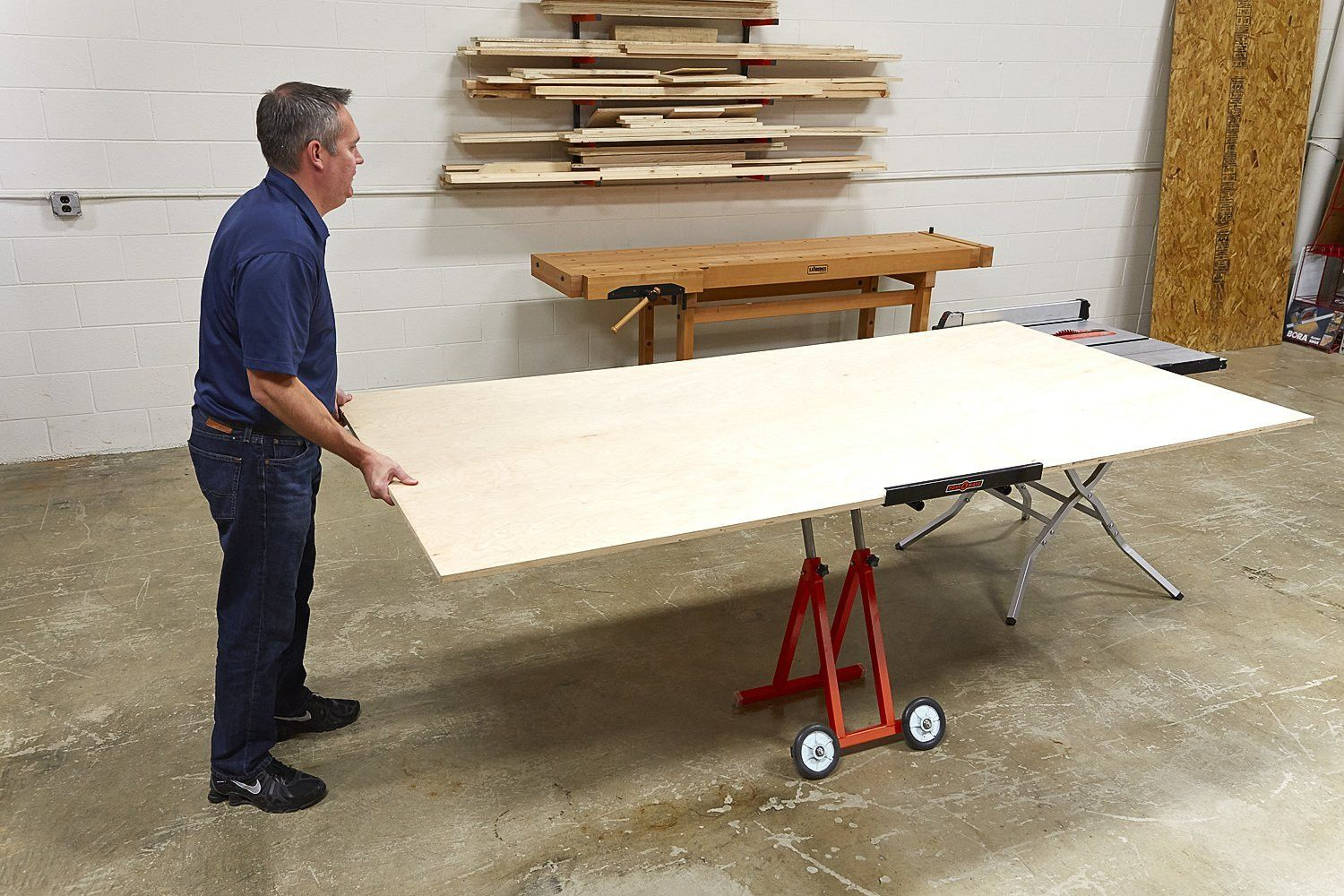 Portamate Pm 1800 Panel Carrier For Use With Table Saws In