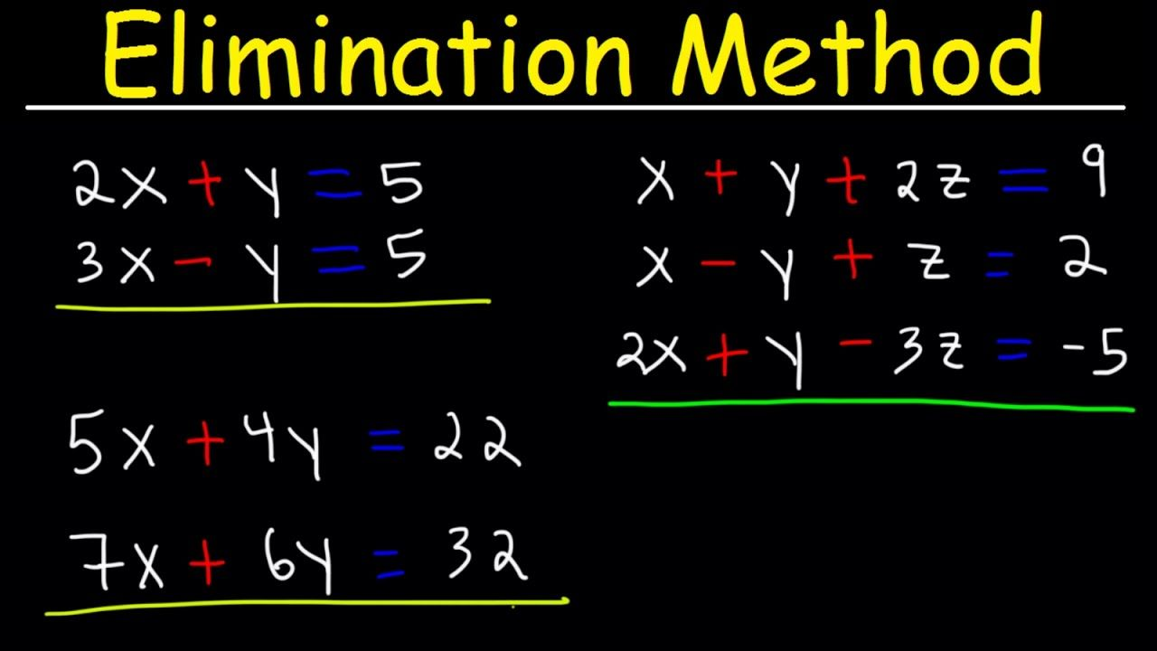 Elimination Method For Solving Systems Of Linear Equations Using Addition And Multiplication Algebr You Linear Equations Graphing Linear Equations Equations Addition and multiplication equations