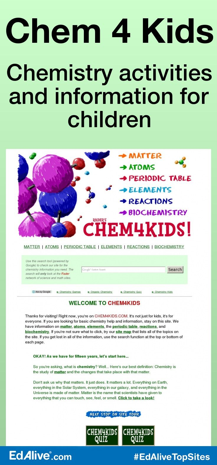 Chem 4 Kids Periodic Table Kids Learning And Chemistry