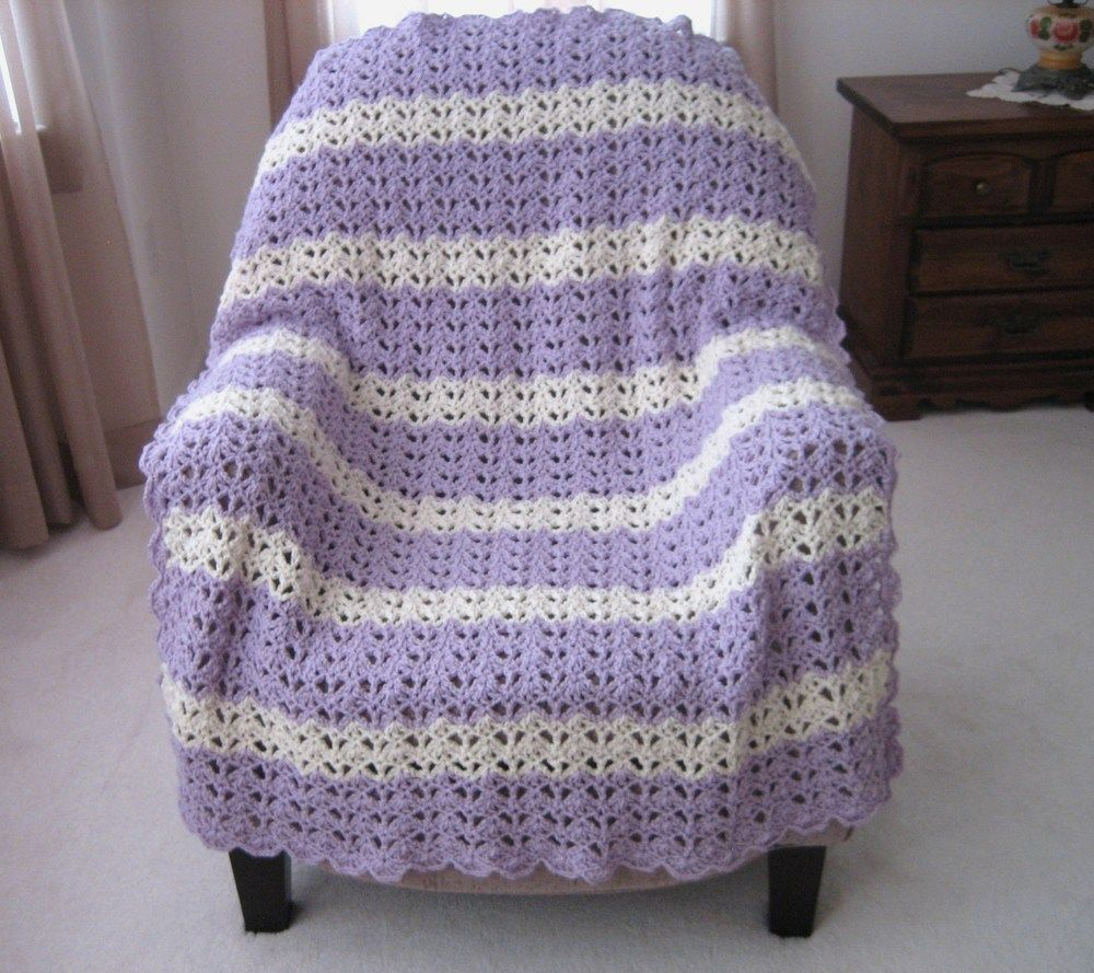 Lacy Open Shell Crochet Afghan Pattern Crochet Crochet