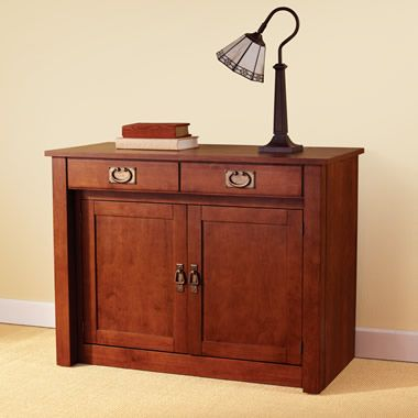 The Expanding Dining Table Hutch - Hammacher Schlemmer $599 Home