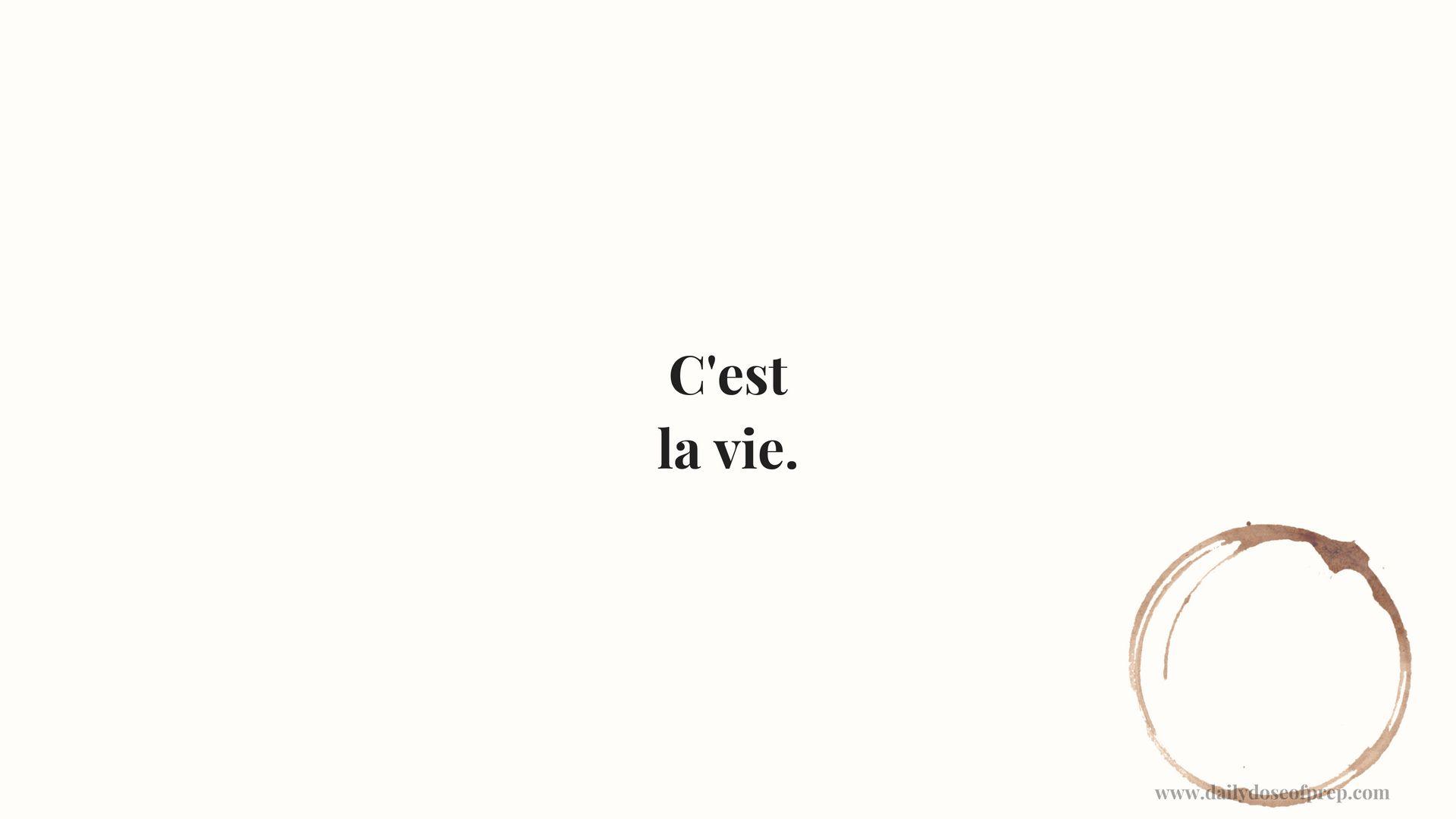 C Est La Vie Wallpaper French Background Chanel Daily